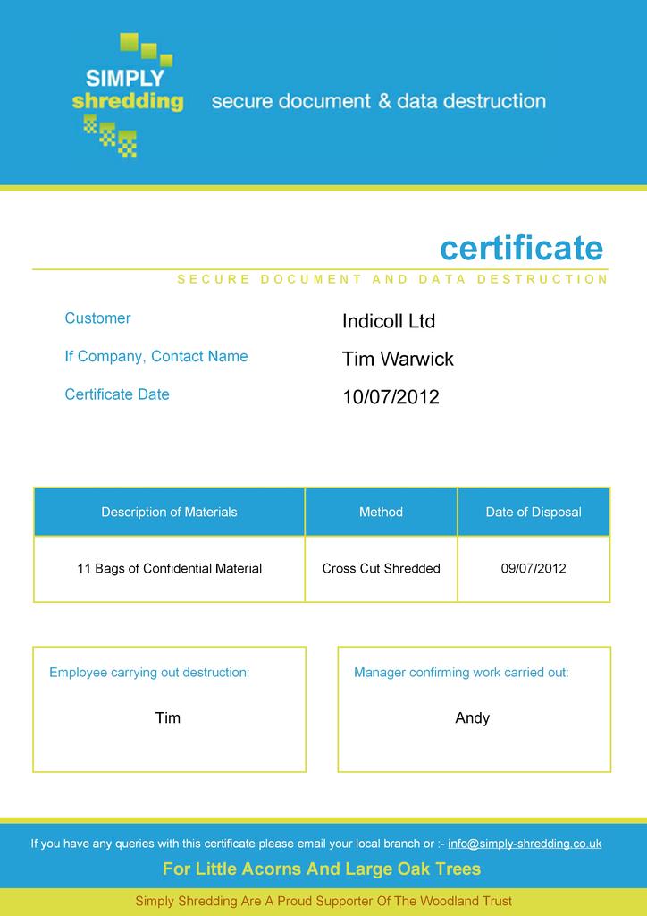 trust certificate